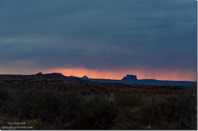 Virga sunset from camp Hamburger Rock BLM Utah