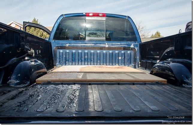 Wood in truck bed Kanab Utah