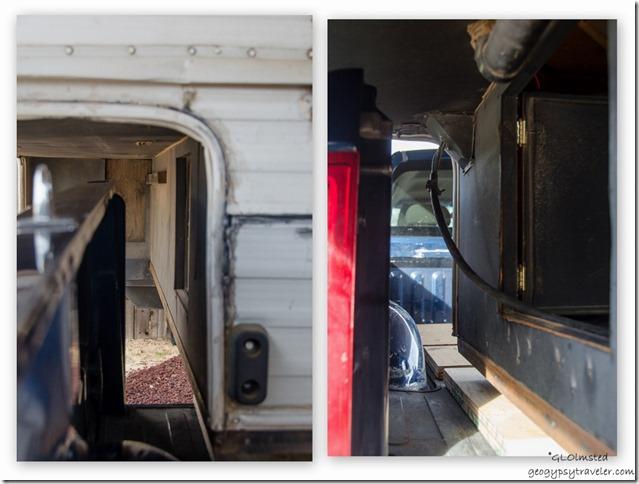 Between camper and truck bed Kanab Utah