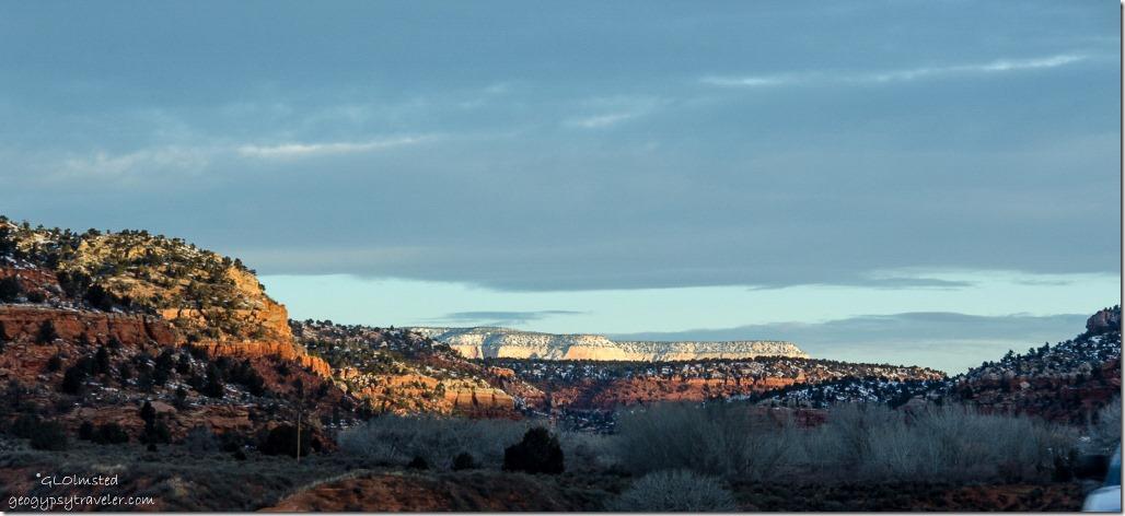 Zion in distance SR89 north Utah