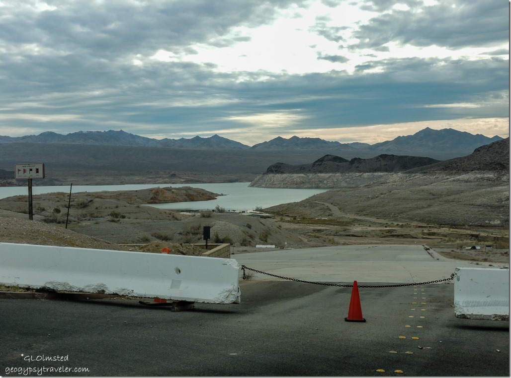 Dry boat ramp Echo Bay Lake Meade National Recreation Area Nevada