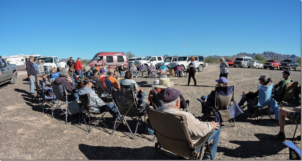 Jerri & Sandie & bloggers Plomosa Road BLM Quartzsite Arizona