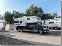 Truck camper Calizona RV Park Needles California