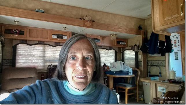 New phone selfie in RV Kanab, Utah