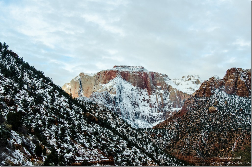 Snow Zion National Park SR9 west Utah