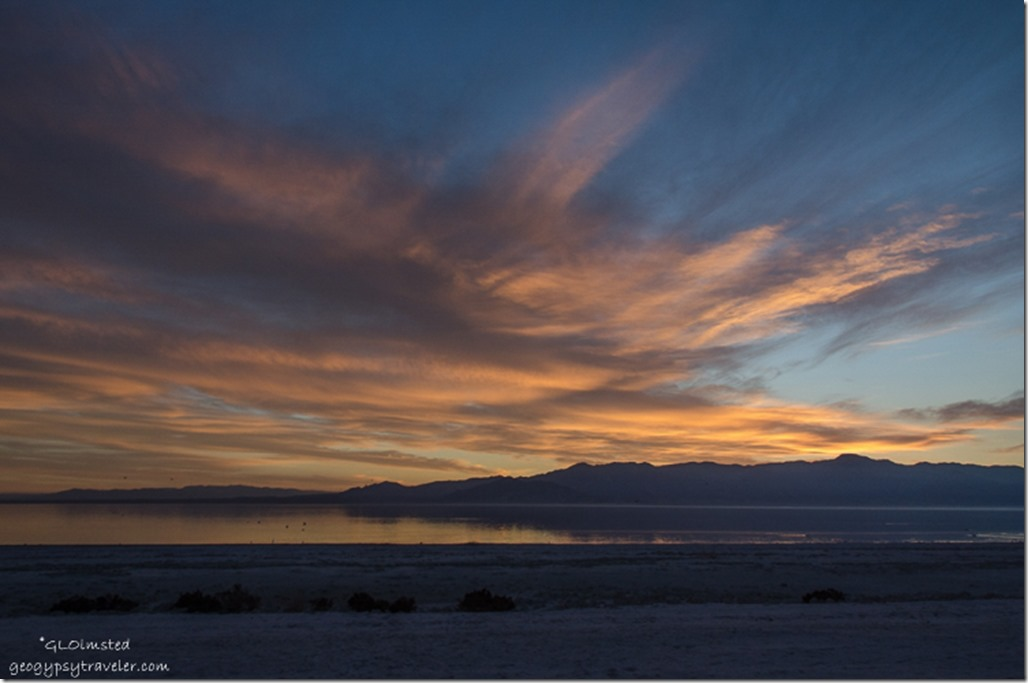 Sunset Corvina Beach Salton Sea Scenic Recreation Area California