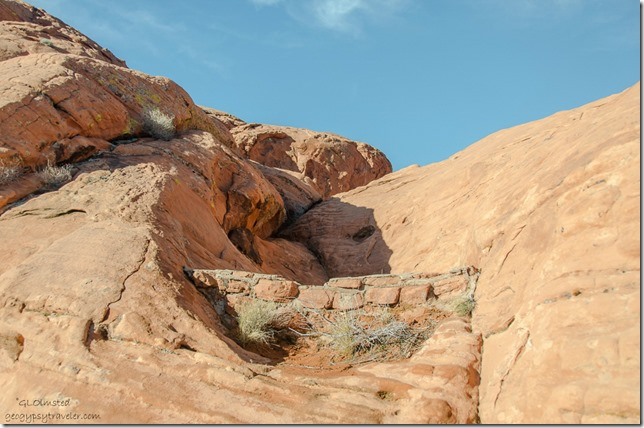 Check dam near Atlatl Rock Valley of Fire State Park Nevada