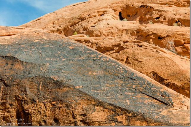 Petroglyphs Mouse's Tank trail Valley of Fire State Park Nevada