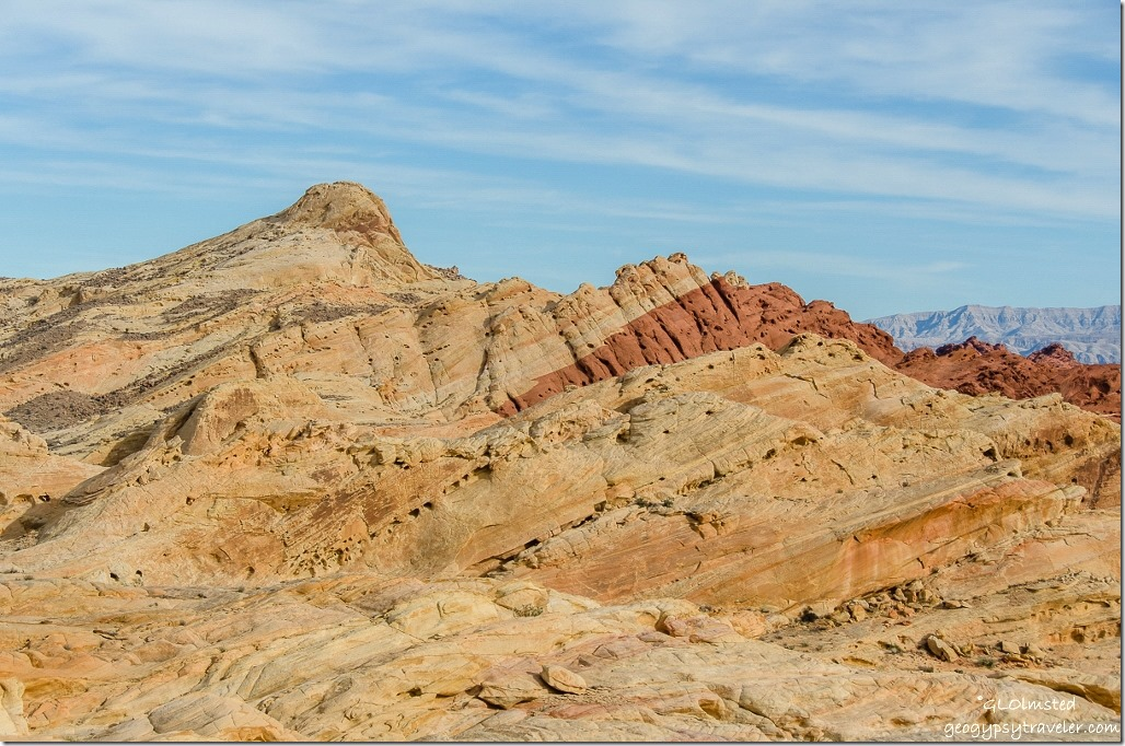View along Fire Canyon Road Valley of Fire State Park Nevada