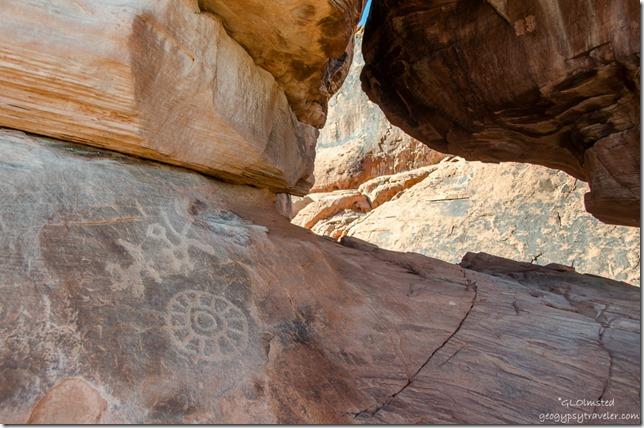 Petroglyphs Atlatl Rock Valley of Fire State Park Nevada