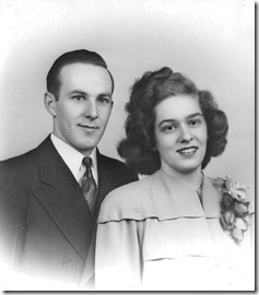 Ray & June Olmsted married 1-3-1947