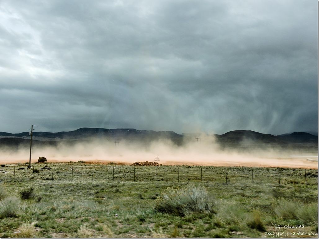 Dust & dark clouds SR89 North Utah