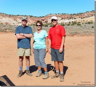 Bill Pam John White Pocket parking Vermilion Cliffs National Monument Arizona
