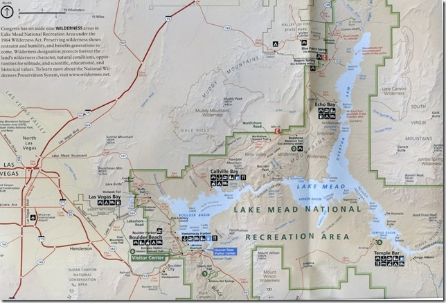 Lake Mead map NPS brochure