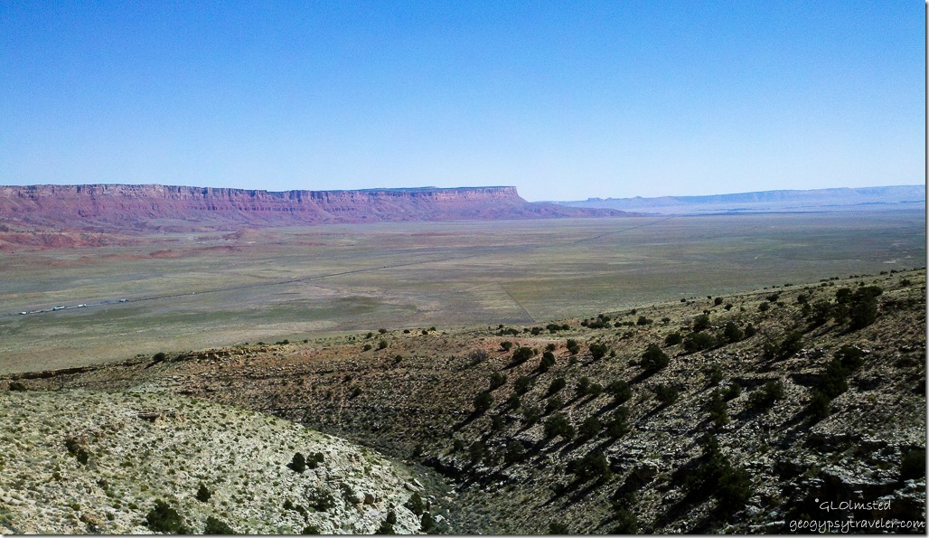 Vermilion Cliffs & House Rock Valley from SR89A East Kaibab National Forest Arizona