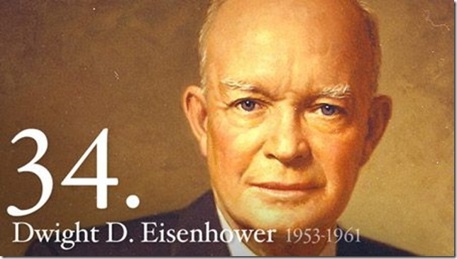 President Dwight D Eisenhower