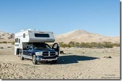 Truck camper Kelso Dunes Mojave National Preserve California