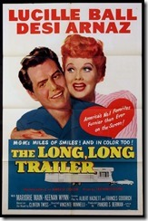 Long, long Trailer movie poster 1954 Lucille Ball & Desi Arnaz