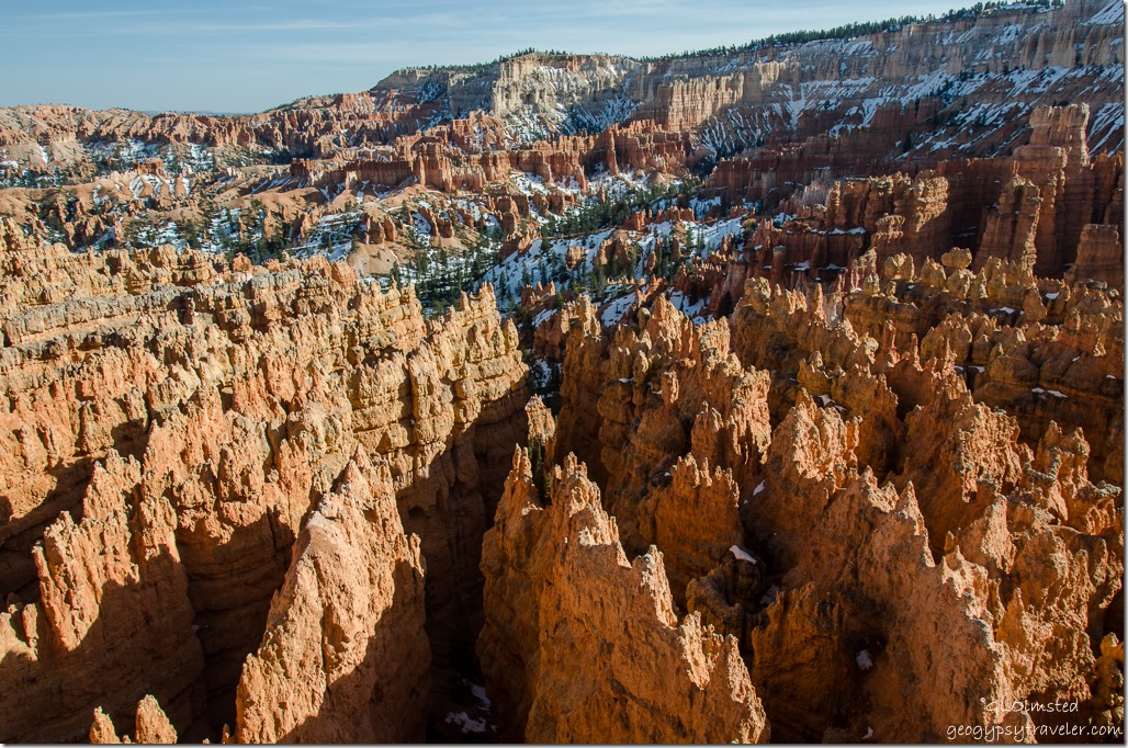 Above Wall St Sunset Point Bryce Canyon National Park Utah