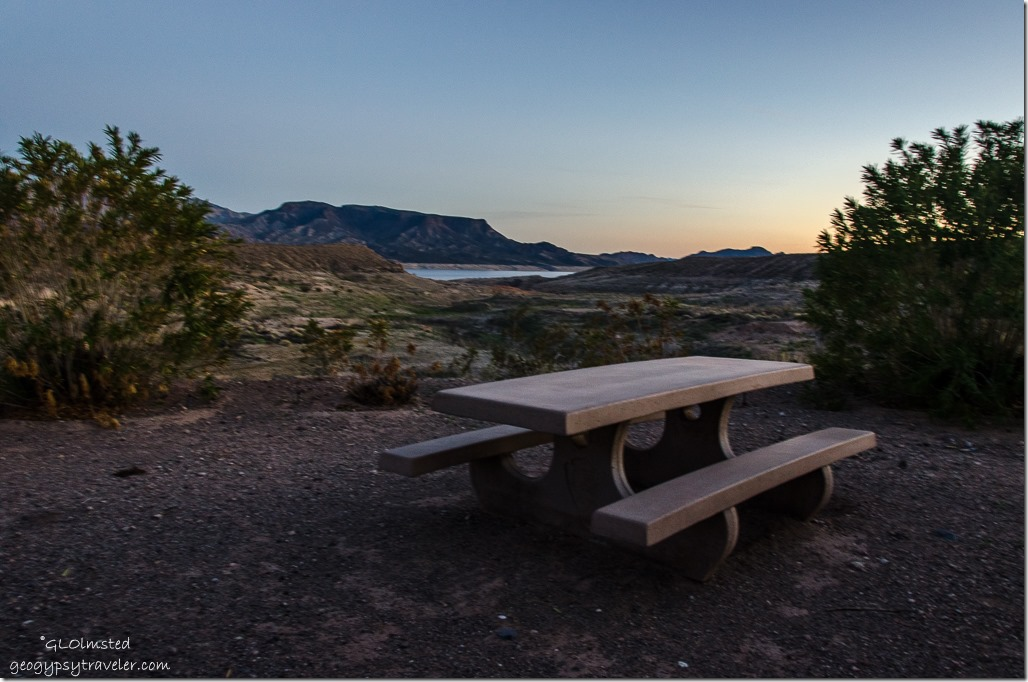 Site 86 Callville campground Lake Mead National Recreation Area Nevada