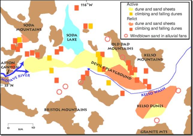 geo map MOJA & Kelso dunes