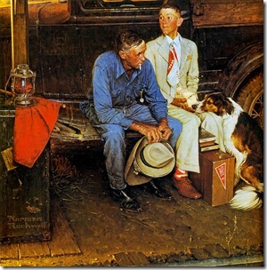 Breaking-Home-Ties-by-Norman-Rockwell
