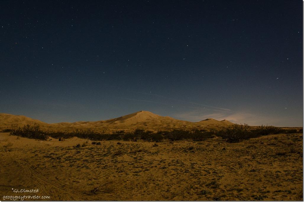 Stars Kelso Dunes Mojave National Preserve California