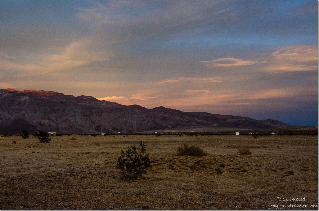 Sunset over Santa Rosa Mountains Anza-Borrego Desert State Park California