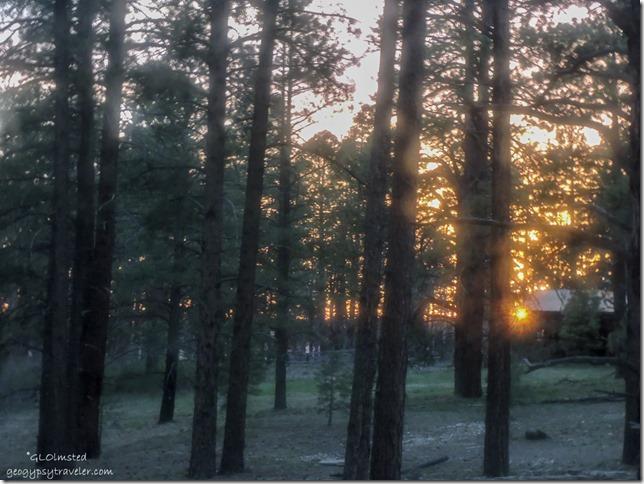 Sunset from RV North Rim Grand Canyon National Park Arizona