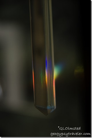 Rainbow thru crystal Yarnell Arizona