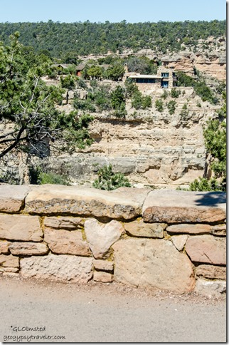 Heart rock & Lookout Studio Rim Trail South Rim Grand Canyon National Park Arizona
