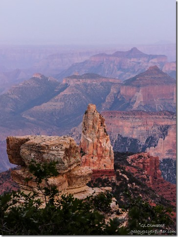 Mount Hayden haze Point Imperial North Rim Grand Canyon National Park Arizona