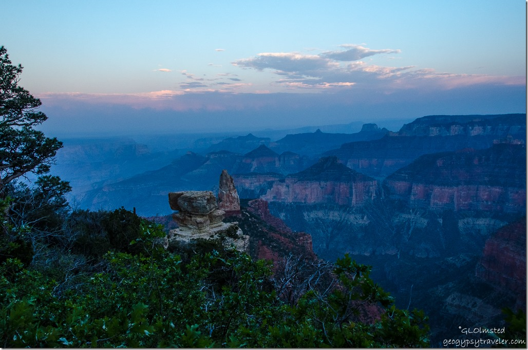 Sunset & haze Point Imperial North Rim Grand Canyon National Park Arizona