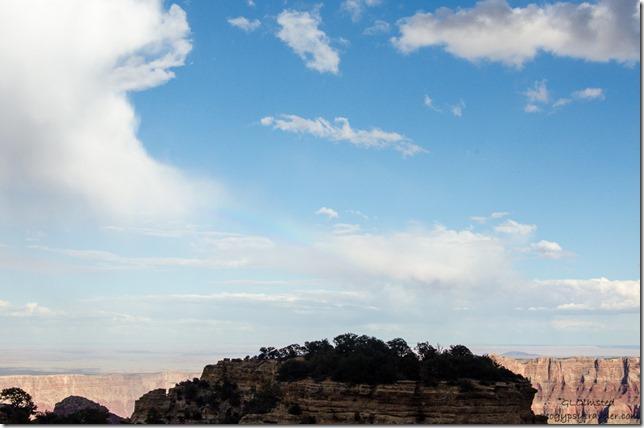 Rainbow over canyon Walhalla Plateau North Rim Grand Canyon National Park Arizona