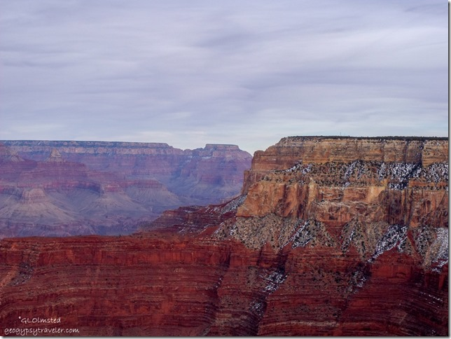 View NE & Wotons Throne in distance from Pima Point Hermit Road South Rim Grand Canyon National Park Arizona