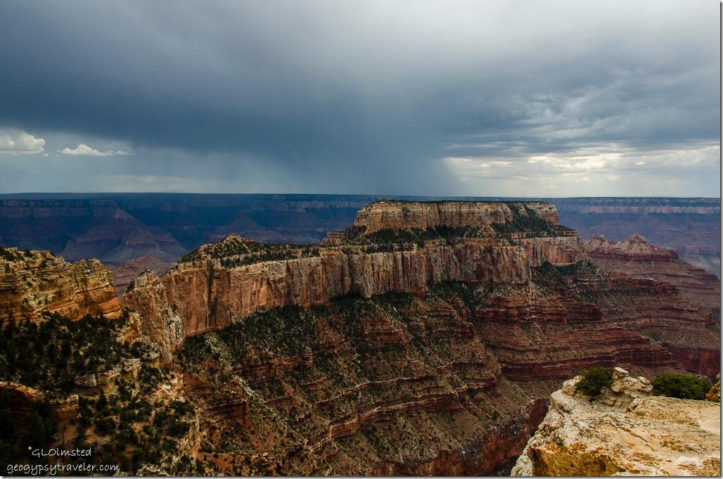 Storm Wotans Throne Cape Royal North Rim Grand Canyon National Park Arizona