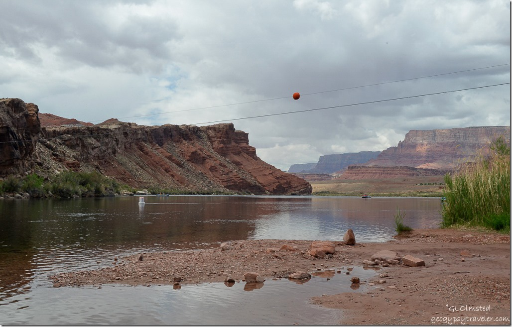 Lee's Ferry boat launch area along Colorado River Glen Canyon National Recreation Area Arizona