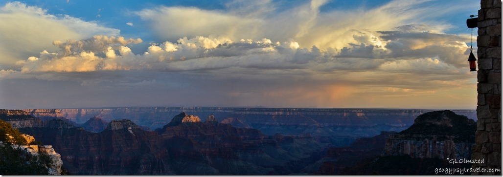 Sunset from Lodge North Rim Grand Canyon National Park Arizona