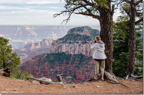 Diane taking photo North Rim Grand Canyon National Park Arizona