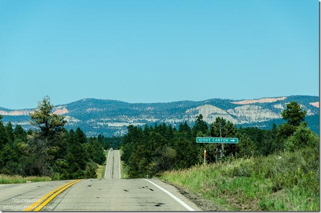 Stout Canyon sign SR14 East Utah