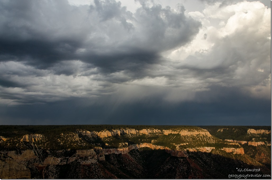 Stormy sky from Crazy Jug Point Kaibab National Forest Arizona