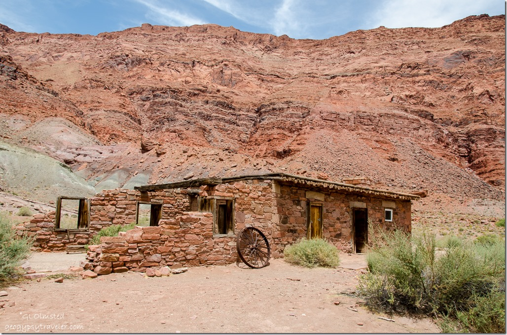 1910 Stone building Lees Ferry Glen Canyon National Recreation Area Arizona