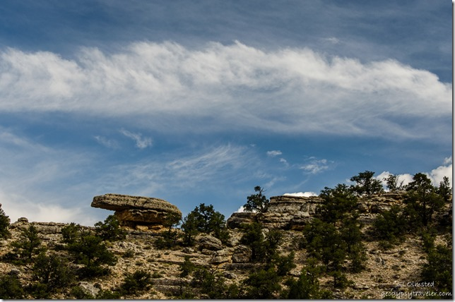 Clouds over Turtle Rock Kaibab National Forest Arizona