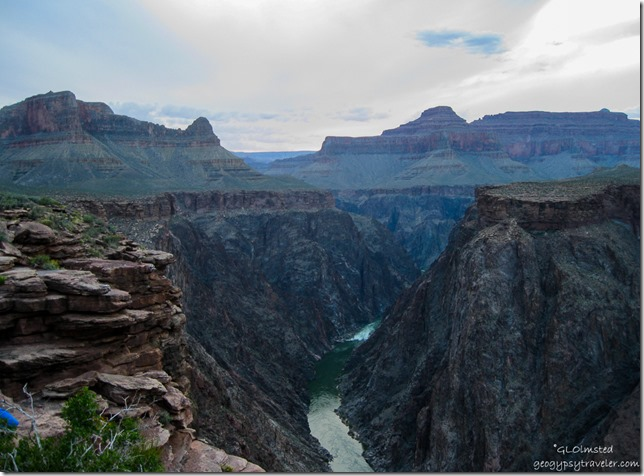 View West & Colorado River from Plateau Point Grand Canyon National Park Arizona