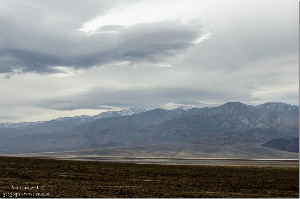 Stormy sky over Telescope Peak Death Valley National Park California