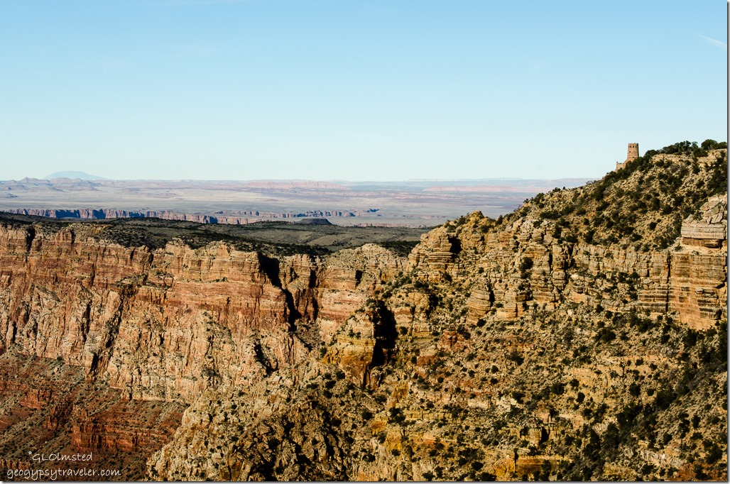 Desert View Watchtower from Navajo Point South Rim Grand Canyon National Park Arizona