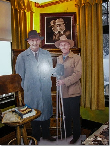 Ellsworth & Emery Kolb lifesize cutouts Kolb Studio Residence tour South Rim Grand Canyon National Park Arizona