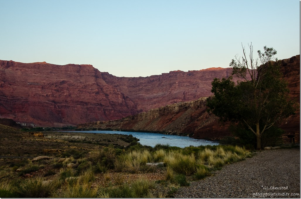 Colorado River from Lee's Ferry campground Glen Canyon National Recreation Area Arizona
