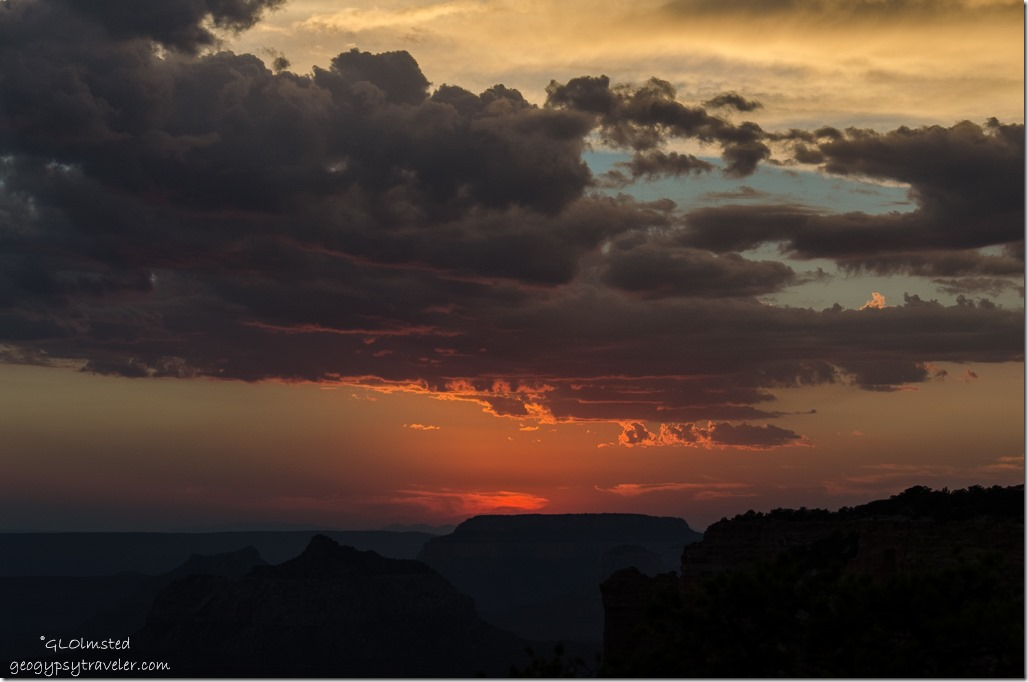 Sunset from Cape Royal North Rim Grand Canyon National Park Arizona