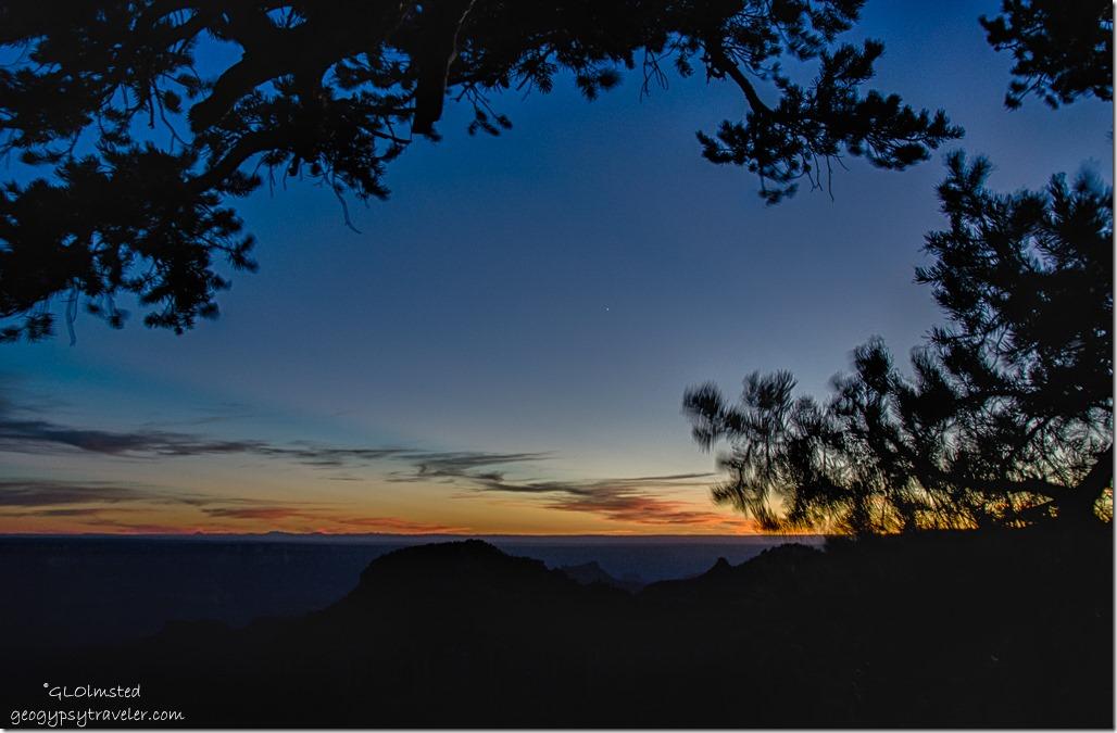 Sunset North Rim Grand Canyon National Park Arizona